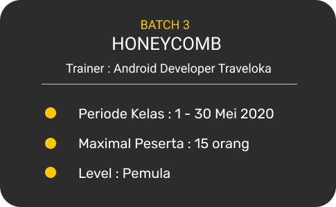 Jadwal kelas Android Xcelerate Bitlabs